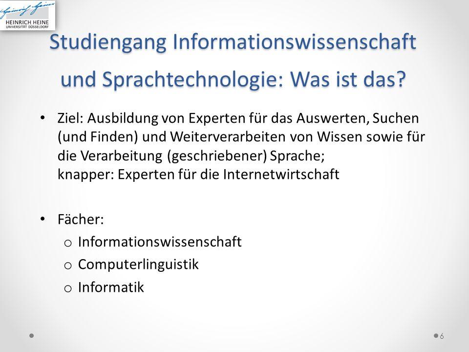 Studiengang Informationswissenschaft und Sprachtechnologie: Was ist das
