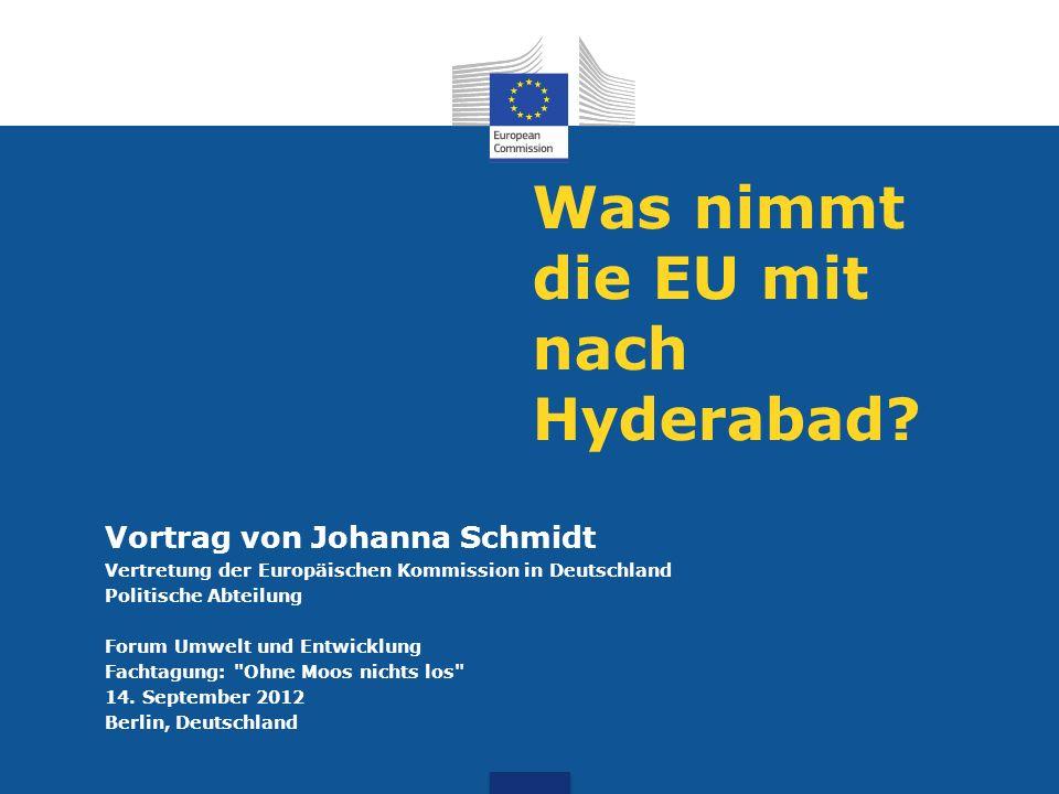 Was nimmt die EU mit nach Hyderabad