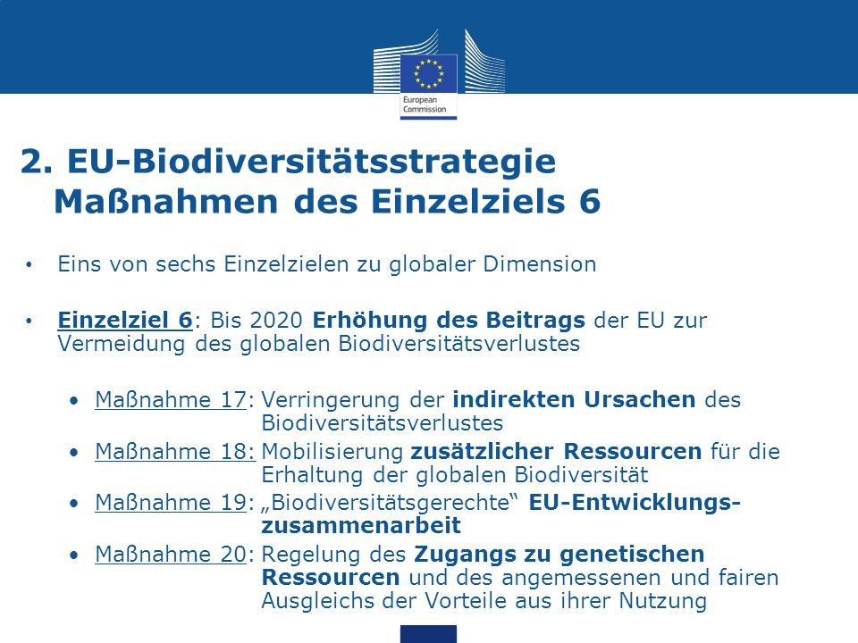 2. EU-Biodiversitätsstrategie Maßnahmen des Einzelziels 6