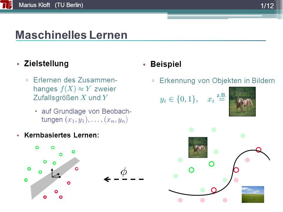 Maschinelles Lernen Zielstellung Beispiel