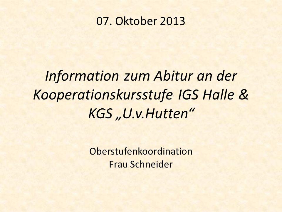 Oberstufenkoordination Frau Schneider
