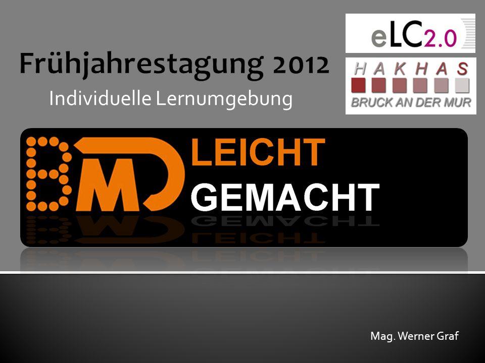 Frühjahrestagung 2012 Individuelle Lernumgebung Mag. Werner Graf