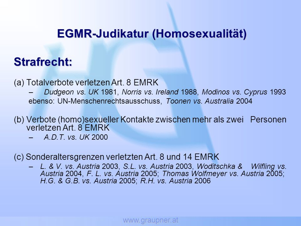 EGMR-Judikatur (Homosexualität)