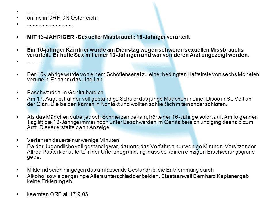 ............................... online in ORF ON Österreich: ................................