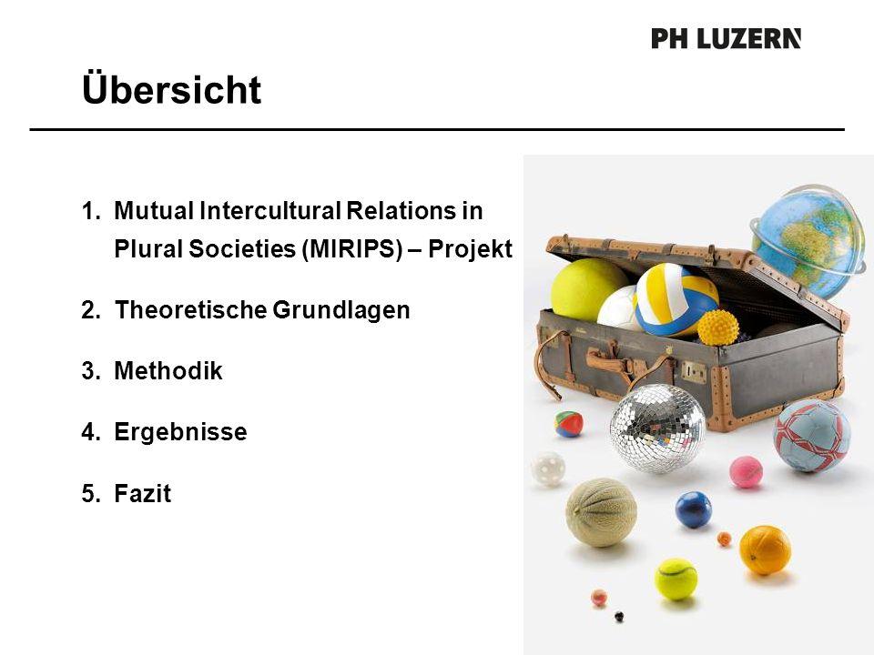 Übersicht Mutual Intercultural Relations in Plural Societies (MIRIPS) – Projekt. Theoretische Grundlagen.