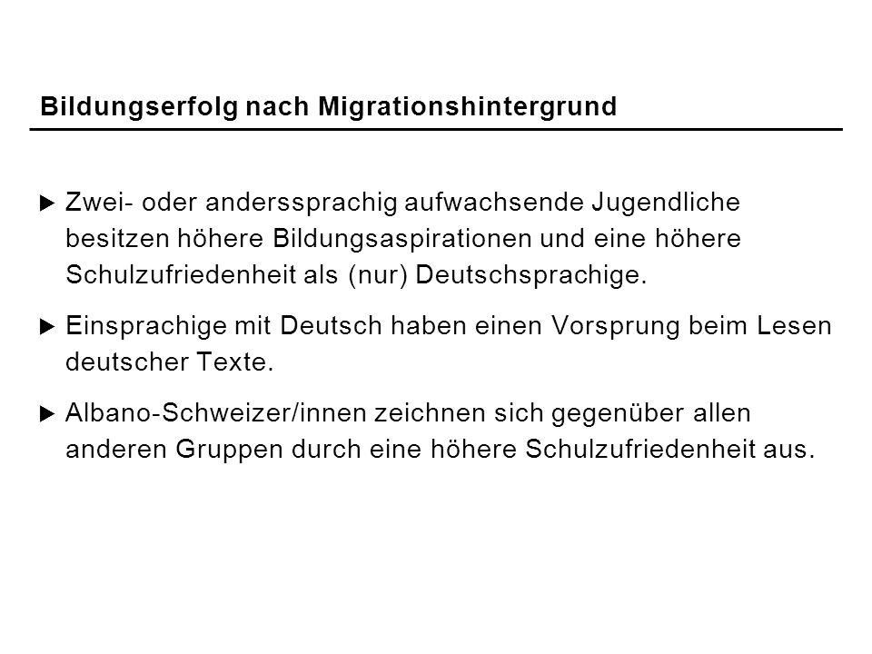 Bildungserfolg nach Migrationshintergrund