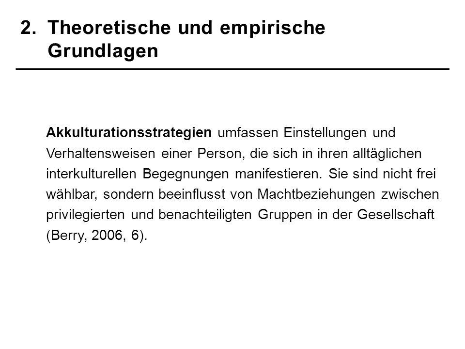2. Theoretische und empirische Grundlagen
