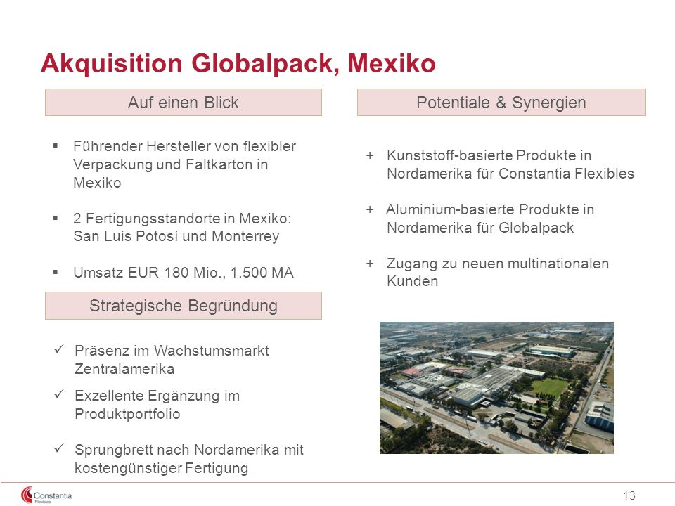Akquisition Globalpack, Mexiko