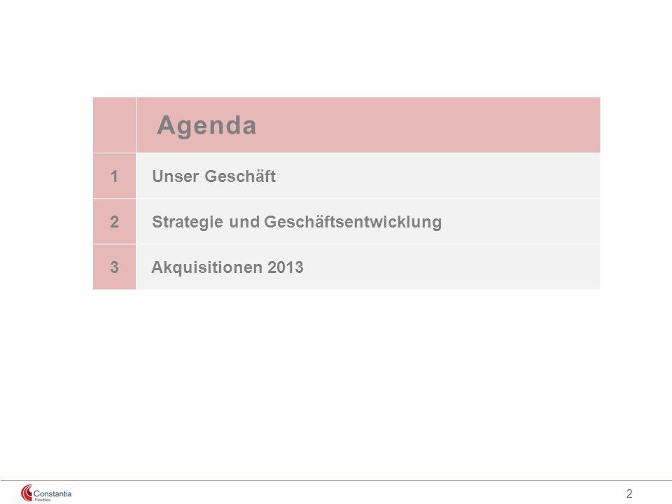 Agenda 1 Unser Geschäft 2 Strategie und Geschäftsentwicklung 3