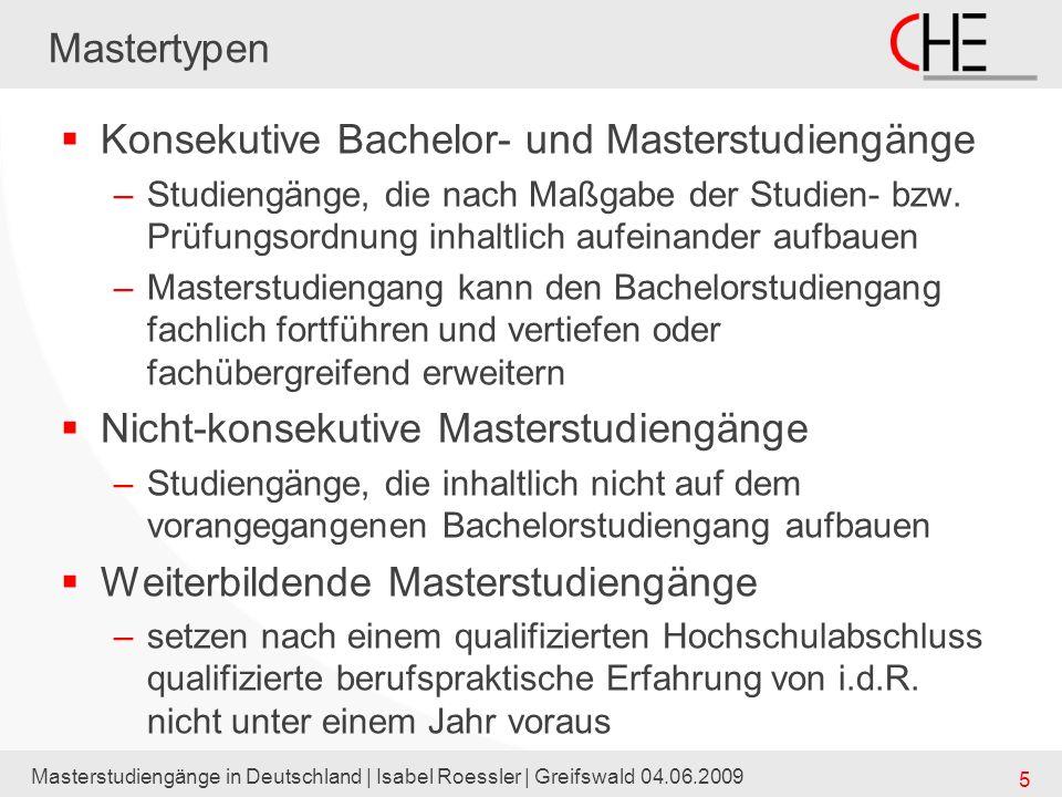 Konsekutive Bachelor- und Masterstudiengänge