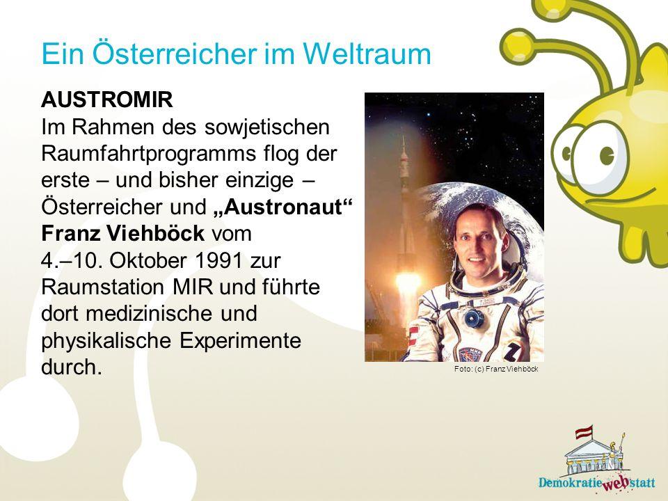Ein Österreicher im Weltraum