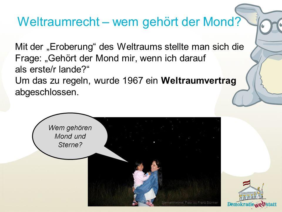 Weltraumrecht – wem gehört der Mond