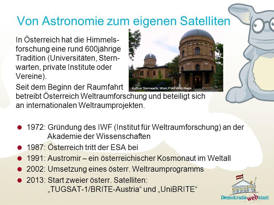 Von Astronomie zum eigenen Satelliten