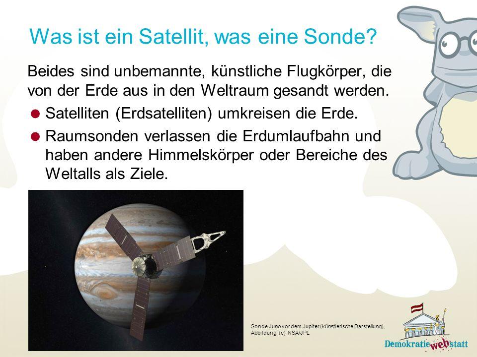 Was ist ein Satellit, was eine Sonde