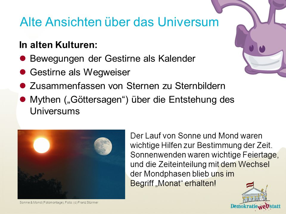 Alte Ansichten über das Universum