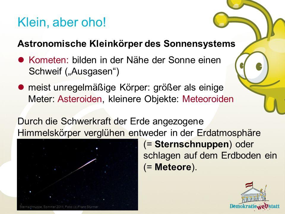 Klein, aber oho! Astronomische Kleinkörper des Sonnensystems