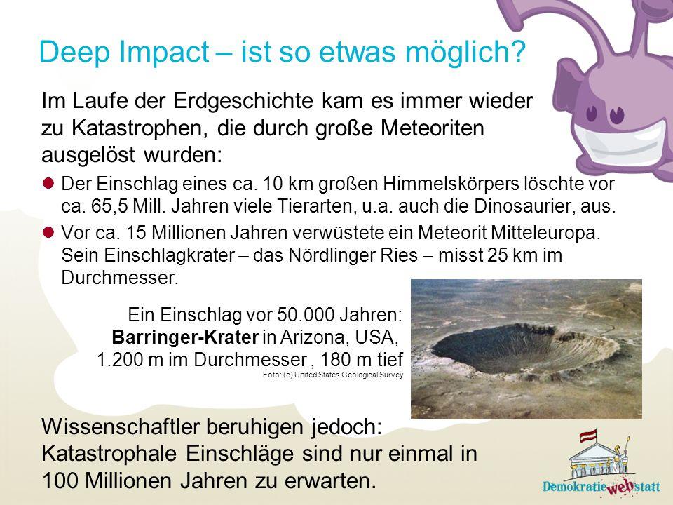 Deep Impact – ist so etwas möglich