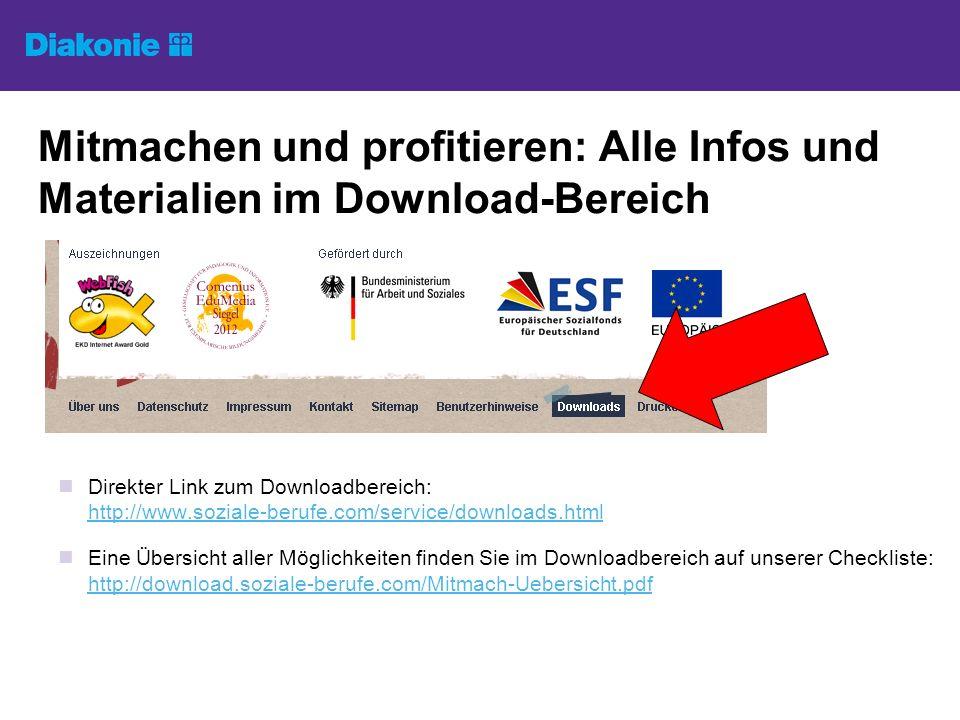 Mitmachen und profitieren: Alle Infos und Materialien im Download-Bereich