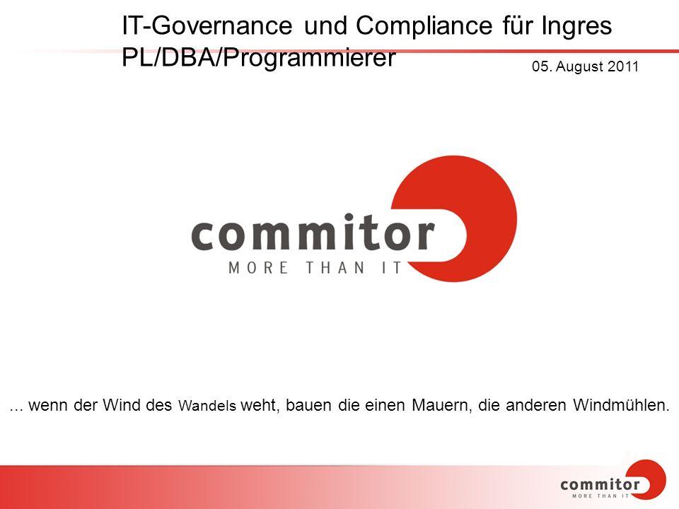 IT-Governance und Compliance für Ingres PL/DBA/Programmierer