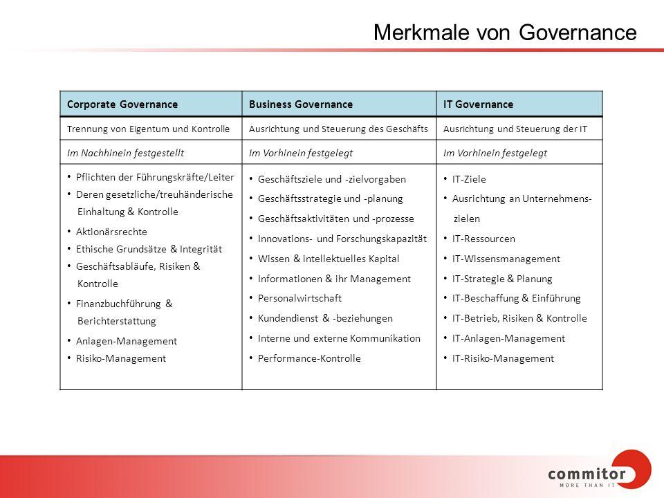 Merkmale von Governance
