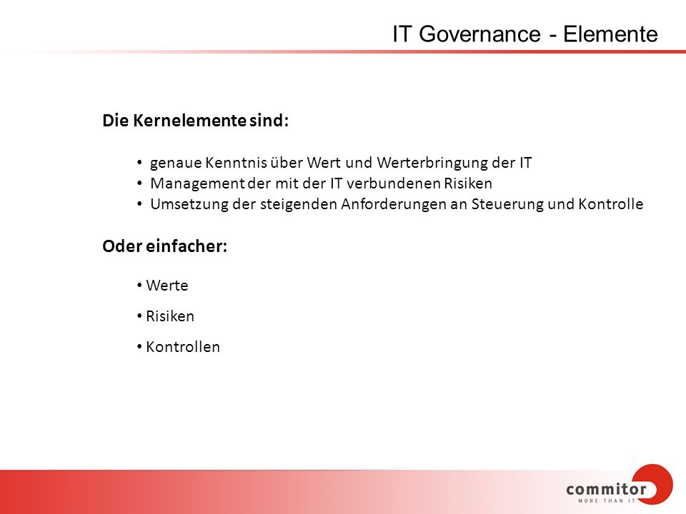 IT Governance - Elemente