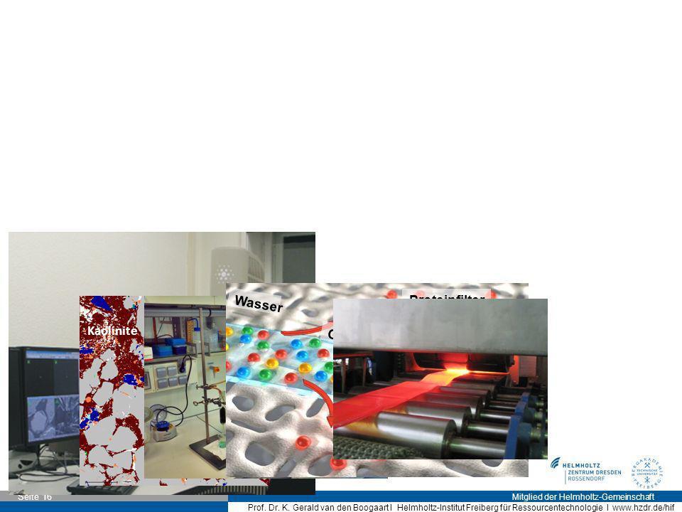 Wasser Gelöste Metallionen Selektive Bindung Proteinfilter Quartz Microcline Kaolinite