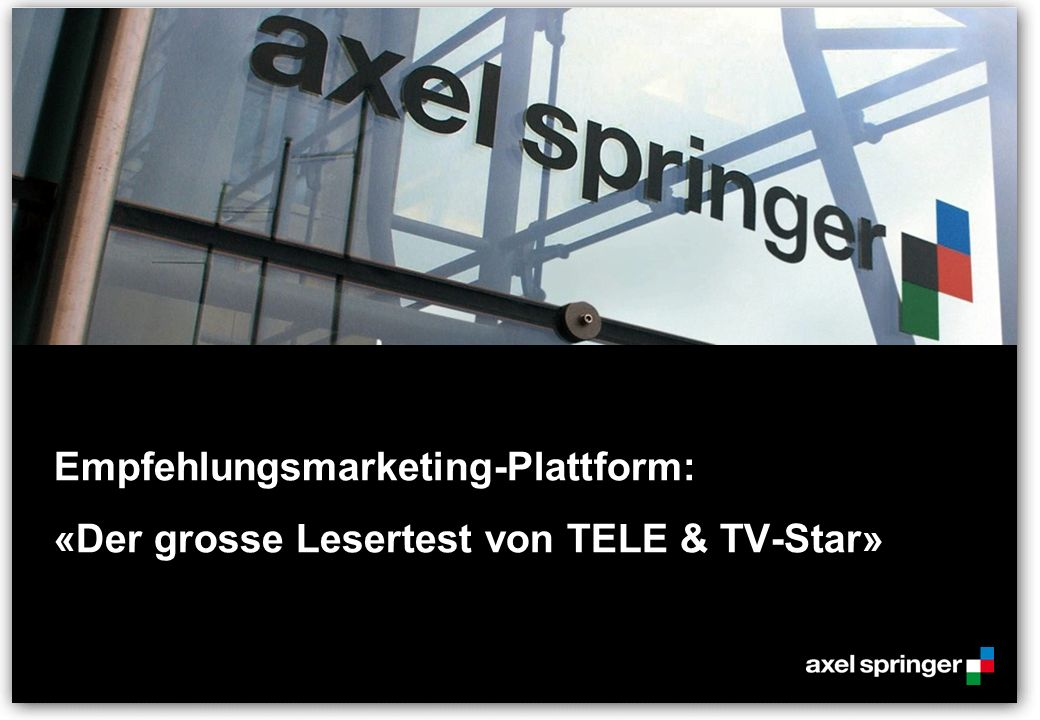 Empfehlungsmarketing-Plattform: «Der grosse Lesertest von TELE & TV-Star»
