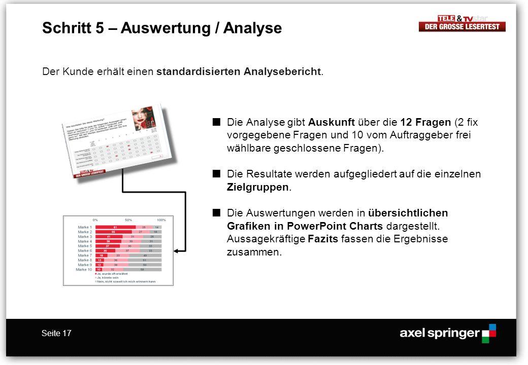 Schritt 5 – Auswertung / Analyse