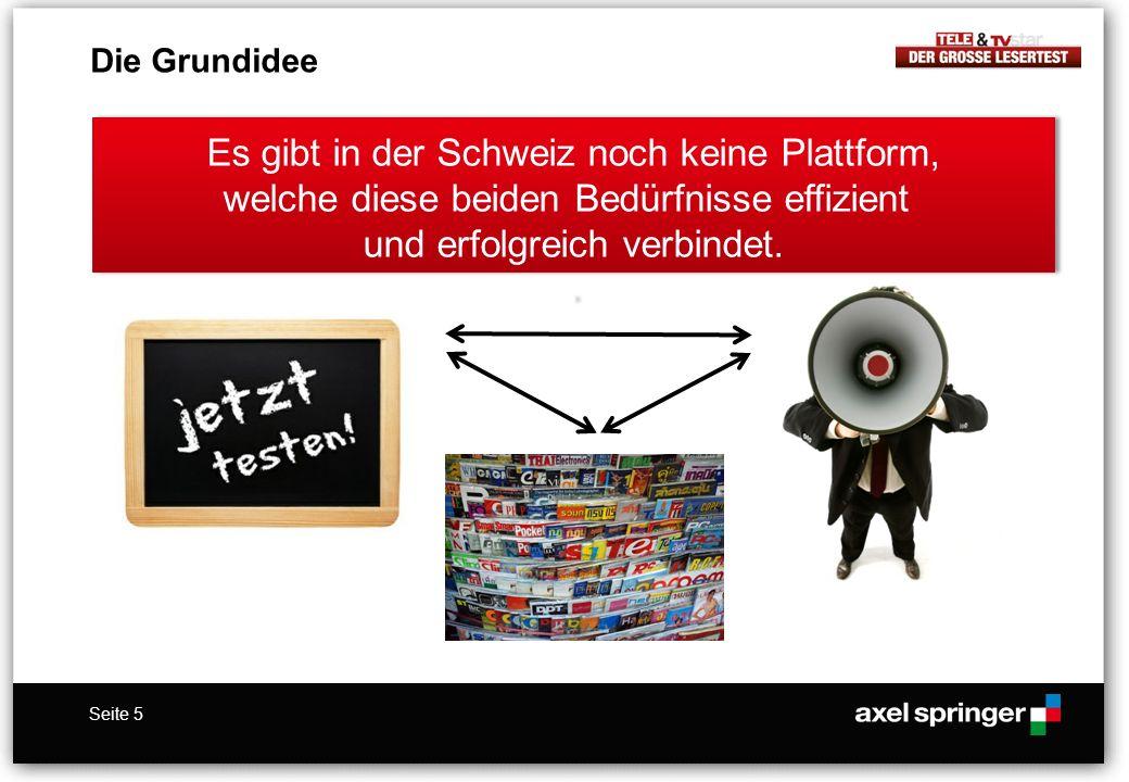 Die Grundidee Es gibt in der Schweiz noch keine Plattform, welche diese beiden Bedürfnisse effizient und erfolgreich verbindet. .