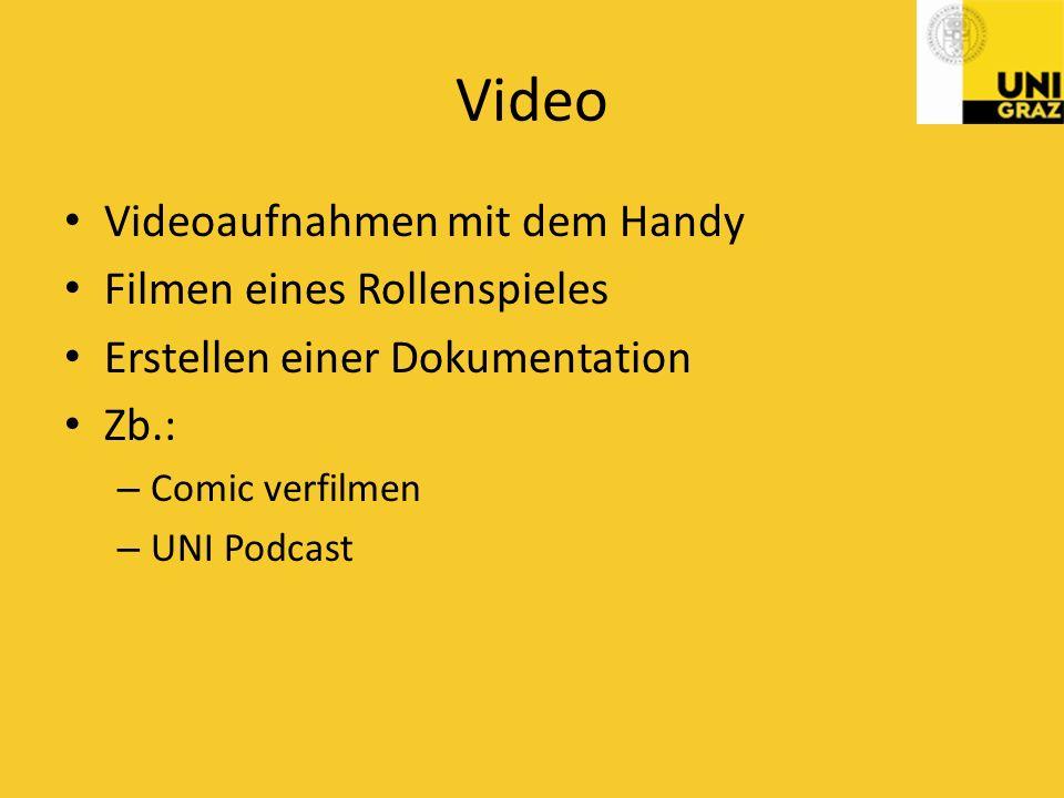 Video Videoaufnahmen mit dem Handy Filmen eines Rollenspieles