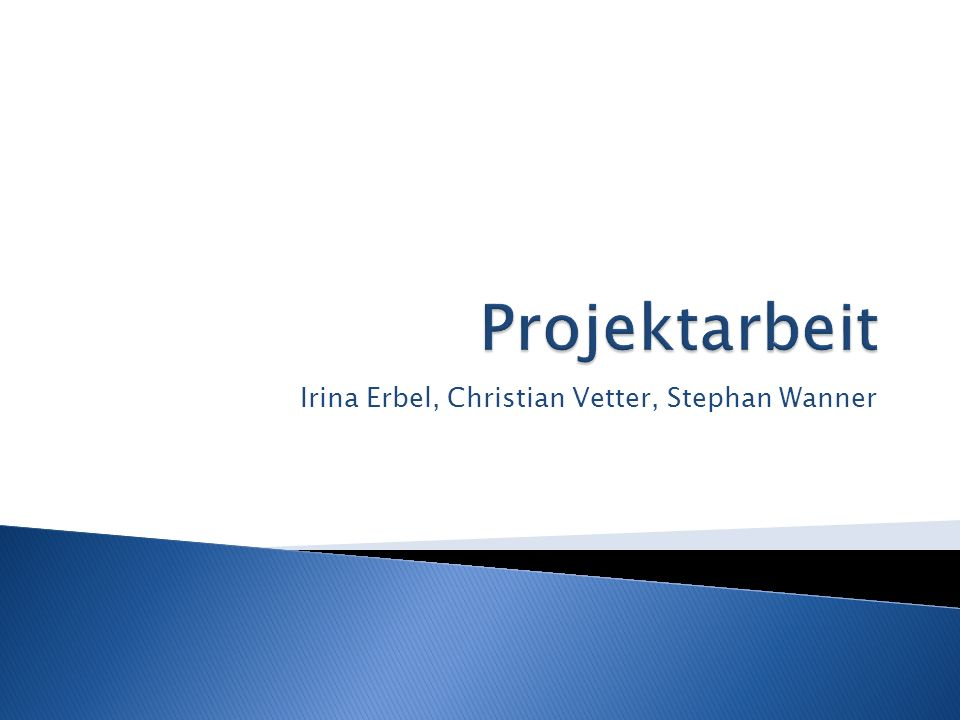 Irina Erbel, Christian Vetter, Stephan Wanner