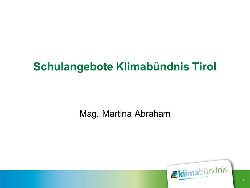 Schulangebote Klimabündnis Tirol