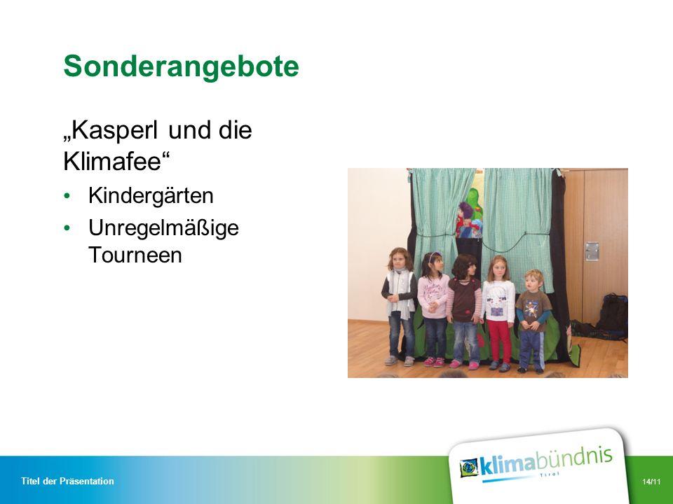"""Sonderangebote """"Kasperl und die Klimafee Kindergärten"""