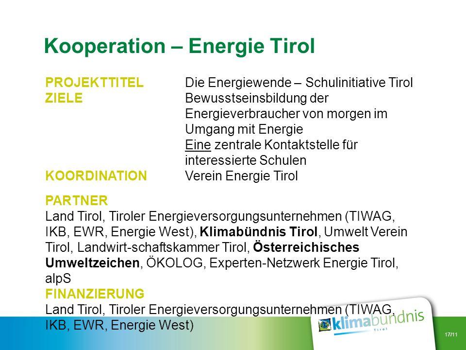 Kooperation – Energie Tirol