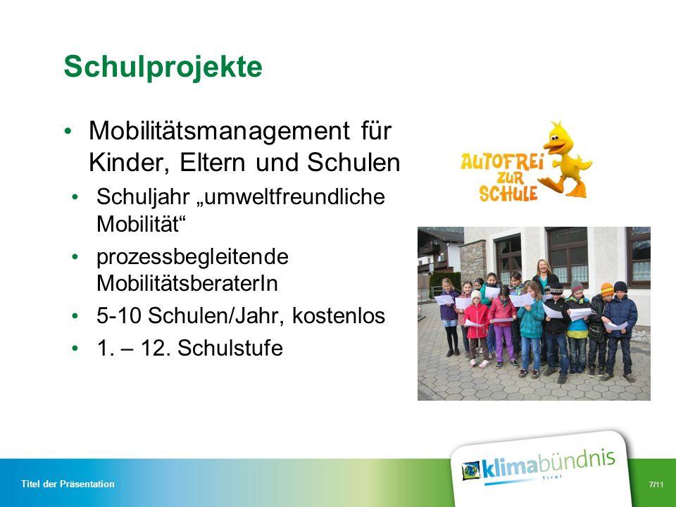 Schulprojekte Mobilitätsmanagement für Kinder, Eltern und Schulen