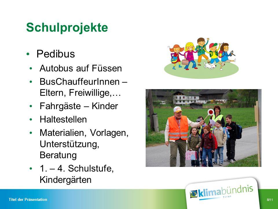 Schulprojekte Pedibus Autobus auf Füssen