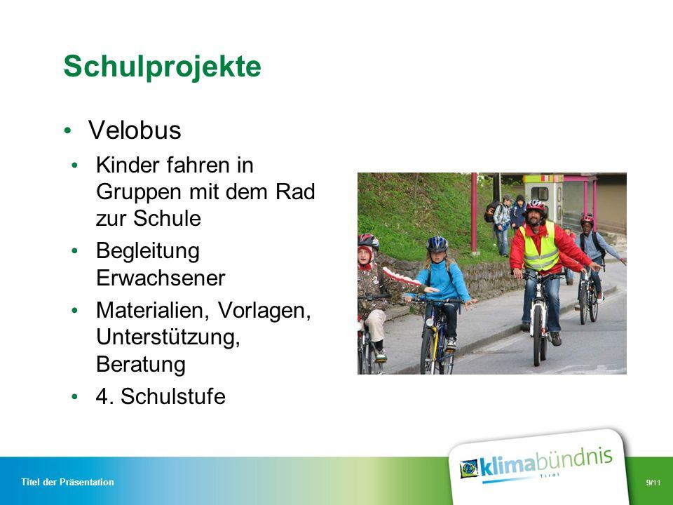 Schulprojekte Velobus Kinder fahren in Gruppen mit dem Rad zur Schule