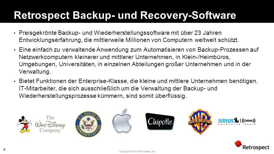 Retrospect Backup- und Recovery-Software