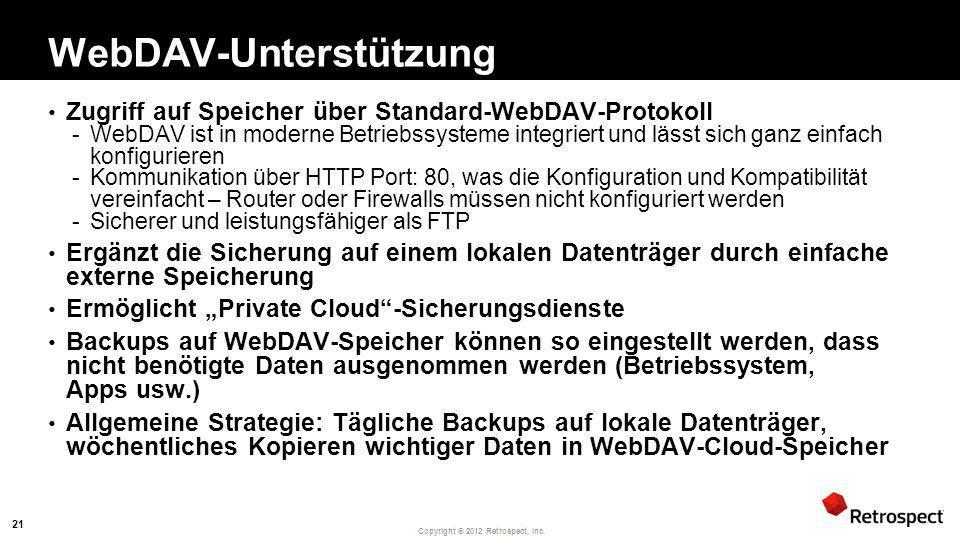 WebDAV-Unterstützung