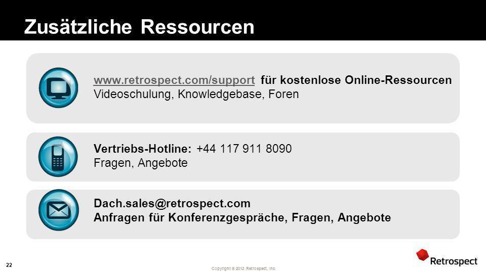 Zusätzliche Ressourcen