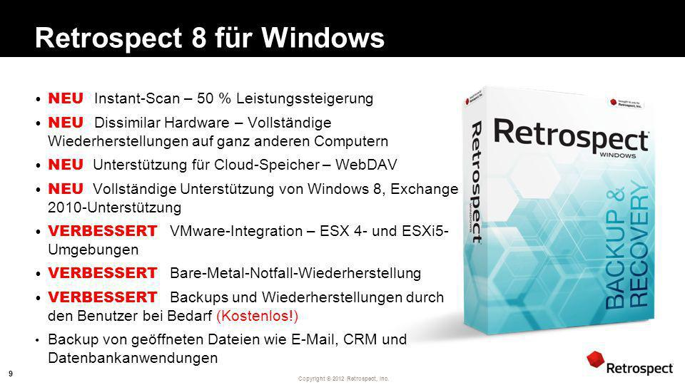 Retrospect 8 für Windows