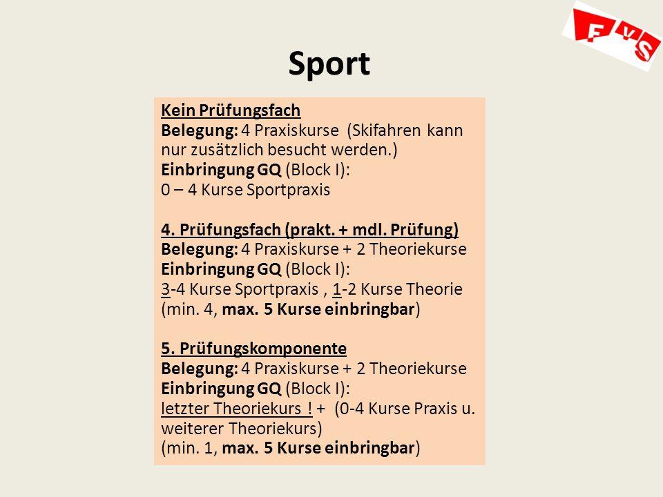 Sport Kein Prüfungsfach