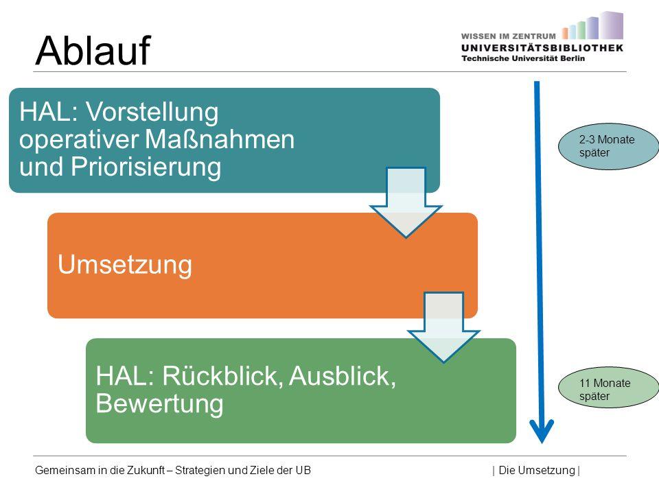Ablauf HAL: Vorstellung operativer Maßnahmen und Priorisierung
