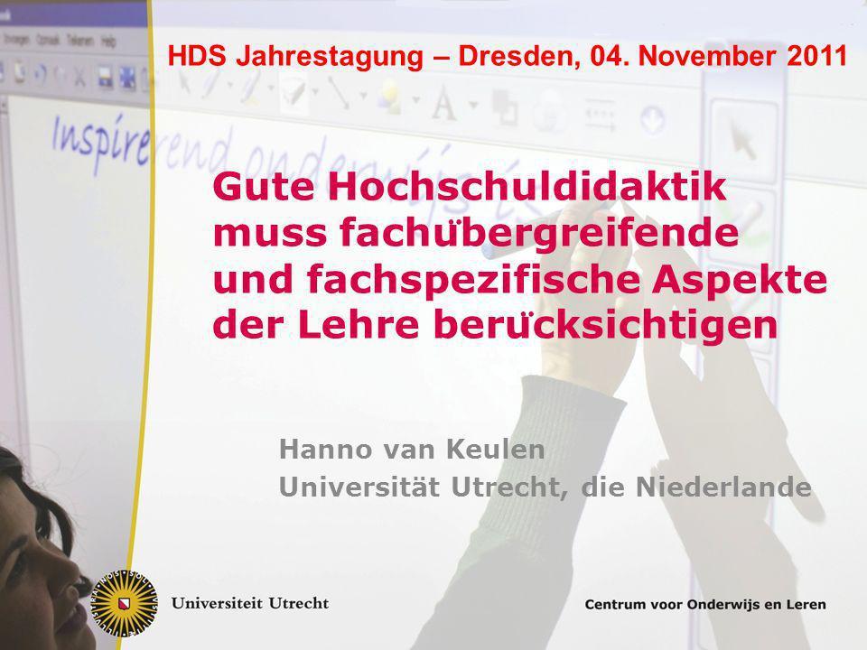 Hanno van Keulen Universität Utrecht, die Niederlande