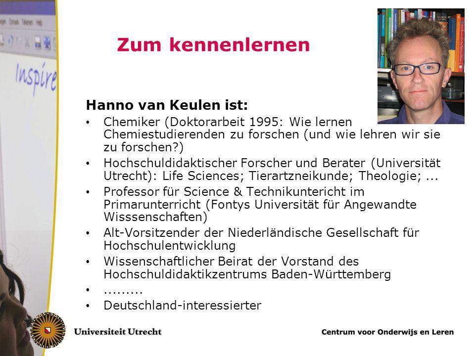Zum kennenlernen Hanno van Keulen ist: