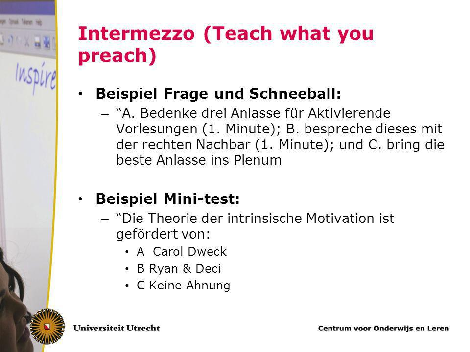 Intermezzo (Teach what you preach)