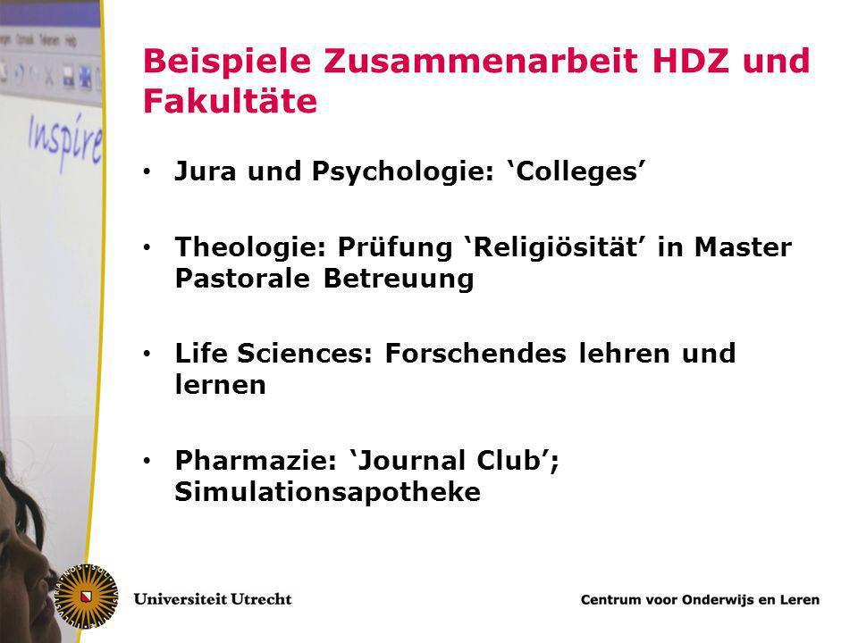 Beispiele Zusammenarbeit HDZ und Fakultäte
