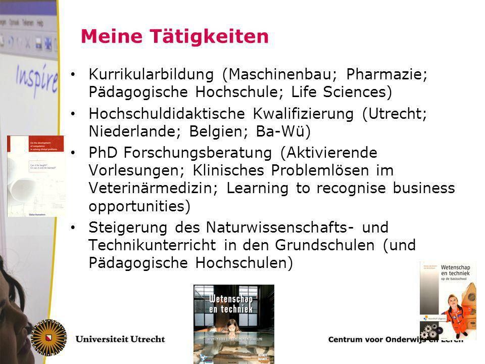 Meine Tätigkeiten Kurrikularbildung (Maschinenbau; Pharmazie; Pädagogische Hochschule; Life Sciences)