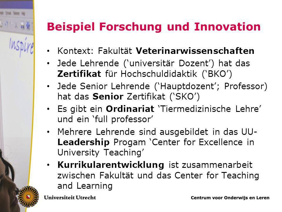 Beispiel Forschung und Innovation