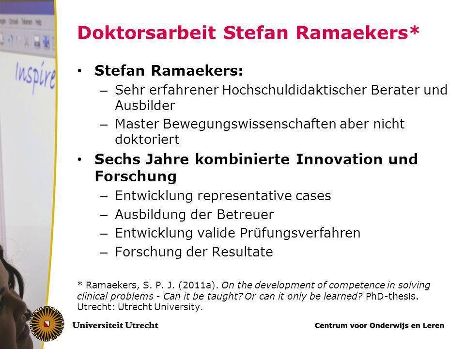 Doktorsarbeit Stefan Ramaekers*